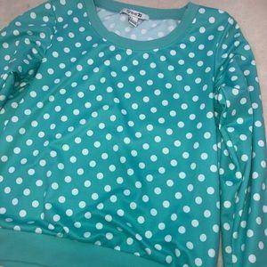 White Dots Teal Jacket